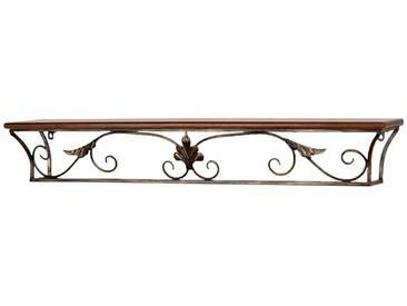 Hängeregal in Braun Metall Vintage Design