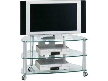 TV Wagen aus Glas Aluminium