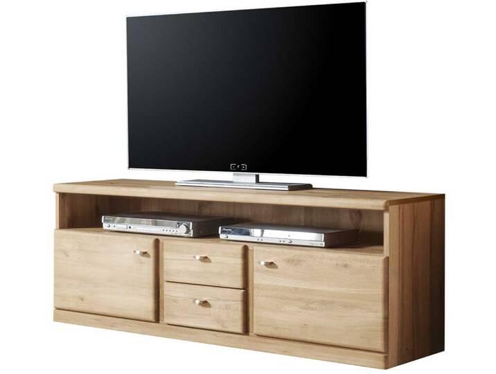 TV Board aus Wildeiche Schubladen Braun