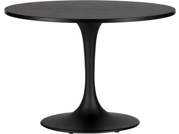 Runder Design Tisch in Schwarz Trompetenfuß