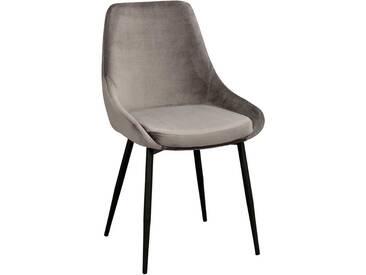 Küchenstuhl Set aus Samt Metallgestell (2er Set)