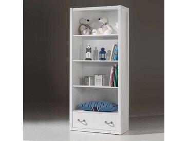 Kinderzimmer Regal in Weiß Schublade