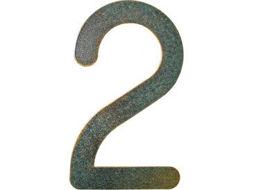Heibi Hausnummer Max, grün-gold patiniert Ausführung: Nummer 2
