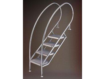 Ideal Treppe Miami Modell 08.1 Waffelblech-Stufen Ausführung: 5-stufig