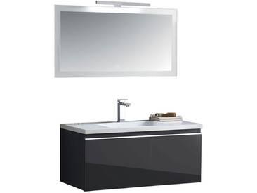 EAGO Badmöbel Milano ME-1000 dunkelgrau 100x45