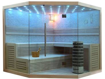EO-SPA Sauna E1101C Pappelholz 180x180 9kW Cilindro