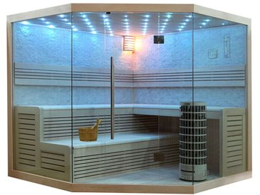 Sauna AWT E1101C Pappelholz 180x180 9kW Cilindro
