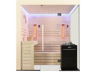 Sauna AWT E1205B-IR Pappelholz 207x198 9kW Vitra