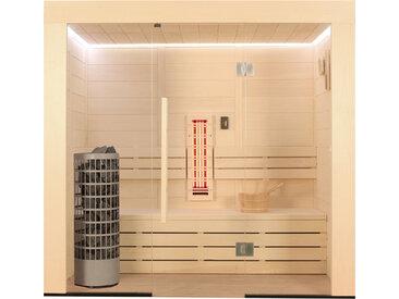 AWT Sauna E1203A-IR Pappelholz 202x133 9kW Cilindro