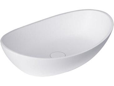 Waschbecken StoneArt LC149 (Mineralguss) weiß 56x35cm glänzend