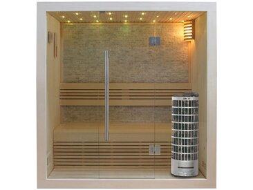 Sauna AWT E1103B Pappelholz 150x105 6.8kW Cilindro