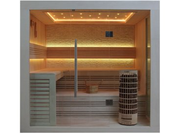 AWT Sauna E1247C Pappelholz 180x180 9kW Cilindro