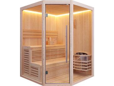 AWT Sauna E1801B Pinienholz 160x160 ohne Saunaofen