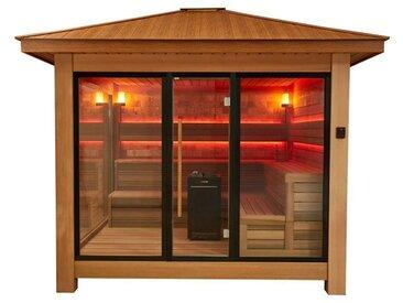 AWT Sauna LT1416A rote Zeder 350x350 13.5kW Vitra Combi