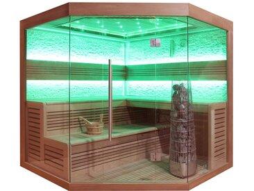 Sauna AWT E1242A rote Zeder 220x220 9kW Kivi