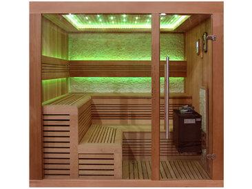 AWT Sauna B1243B rote Zeder 200x180 9kW EOS BiO-Thermat