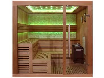 Sauna AWT B1243B rote Zeder 200x180 9kW EOS BiO-Thermat