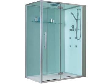 EAGO Dusche Duschabtrennung D991 weiß 150x90 rechts