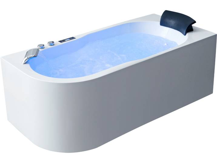 Badewannen und Whirlpools - AWT Whirlpool GE107TSL 180x130 links  - Onlineshop Moebel.de
