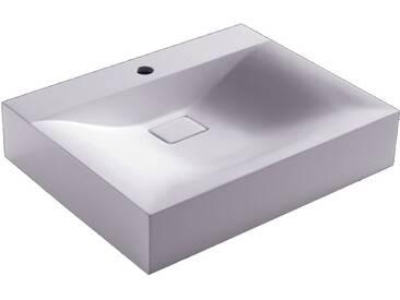 Waschbecken StoneArt BH086-3E (Mineralguss) weiß 60cm glänzend