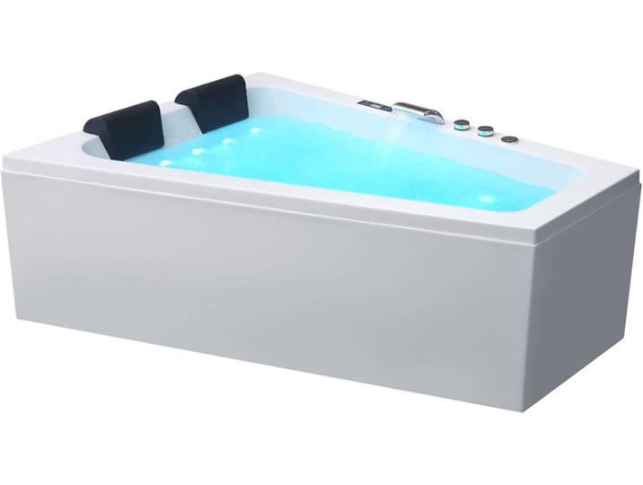 Badewannen und Whirlpools - Whirlpool AWT GE104TSL mit Acryl Schürze 170x130 rechts  - Onlineshop Moebel.de