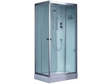 EAGO Dusche Duschabtrennung 800-8IH weiß 80 Eck