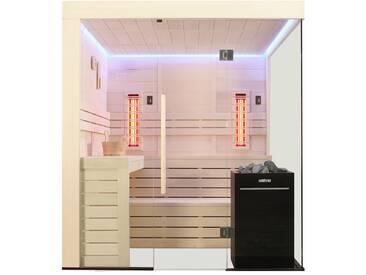 EO-SPA Sauna E1205A-IR Pappelholz 266x198 9kW Vitra