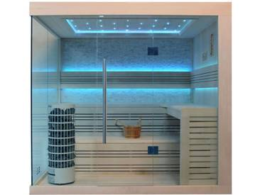 EO-SPA Sauna E1246C Pappelholz 180x180 9kW Cilindro