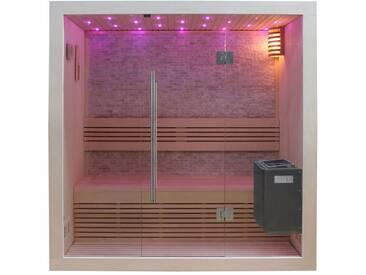 Sauna AWT B1103C Pappelholz 120x105 3kW EOS BiO-Mini
