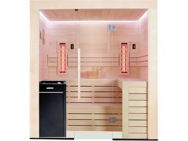 Sauna AWT E1202B-IR Pappelholz 202x198 9kW Vitra