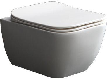 StoneArt WC Hänge-WC TMS-506P weiß 52x38cm glänzend