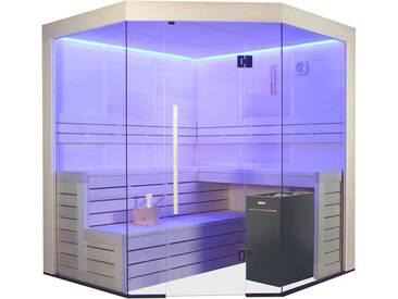 Sauna AWT E1201B Pappelholz 205x205 9kW Vitra