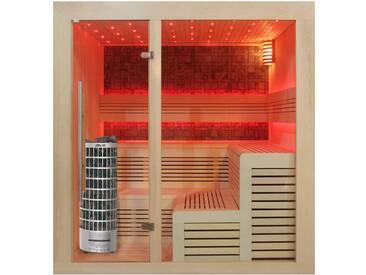 EO-SPA Sauna E1213C Pappelholz 180x180 9kW Cilindro