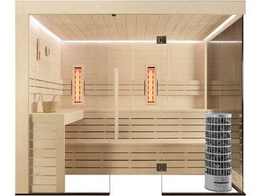 Sauna AWT E1205A-IR Pappelholz 266x198 9kW Cilindro
