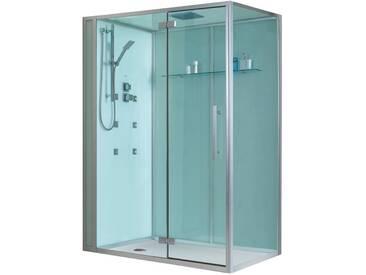 EAGO Dusche Duschabtrennung D991 weiß 150x90 links