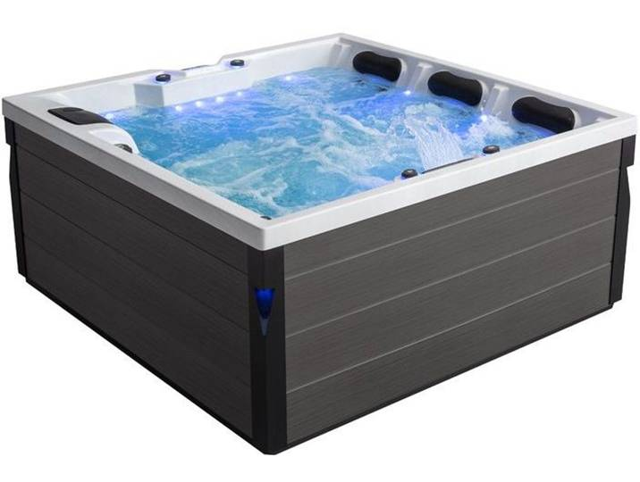 Badewannen und Whirlpools - AWT Whirlpool Aussenwhirlpool IN 402 eco extreme Sterling Silver 200x200 grau  - Onlineshop Moebel.de