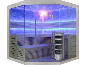 EO-SPA Sauna E1211C Pappelholz 180x180 9kW Cilindro