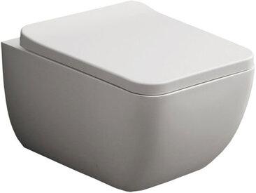StoneArt WC Hänge-WC TMS-505P weiß 54x38cm glänzend