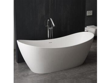 StoneArt Badewanne freistehend BS-526 weiß 185x79 glänzend