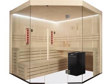 EO-SPA Sauna E1201B-IR Pappelholz 205x205 9kW Vitra