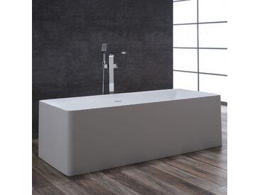 StoneArt Badewanne freistehend BS-509 weiß 181x82 glänzend