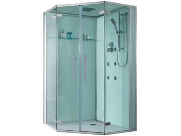 EAGO Dusche Duschabtrennung D993 weiß 120x120