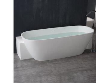 StoneArt Badewanne freistehend BS-529 weiß 185x81 glänzend