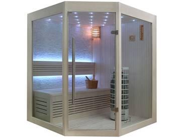 EO-SPA Sauna E1219B Pappelholz 140x140 6.8kW Cilindro