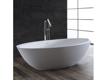 StoneArt Badewanne freistehend BS-531 weiß 190x100 glänzend
