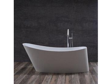 StoneArt Badewanne freistehend BS-503 weiß 179x80 glänzend