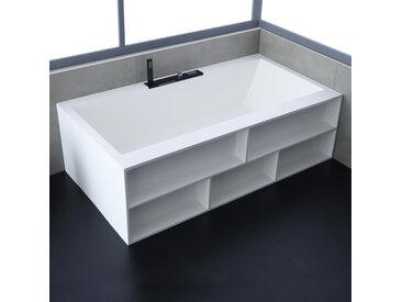 StoneArt Badewanne freistehend BS-535 weiß 188x100 matt