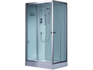 EAGO Dusche Duschabtrennung 1200-11IH weiß 120x90 links