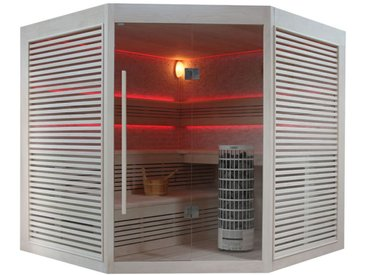 Sauna AWT E1403A Pappelholz 220x220 9kW Cilindro