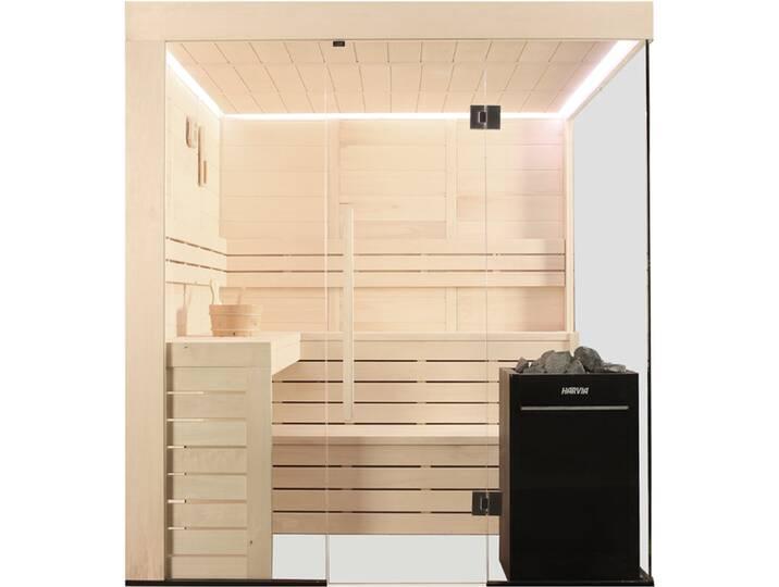 Saunen und Zubehör - Sauna AWT E1205C Pappelholz 207x168 9kW Vitra  - Onlineshop Moebel.de